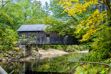 Lovejoy Covered Bridge In Sout...