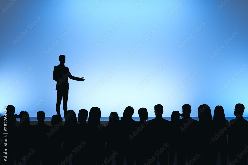 Fototapeta Man giving speech