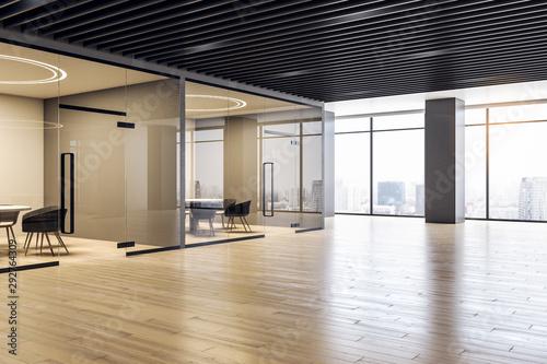 Fototapeta Contemporary spacious office interior obraz na płótnie