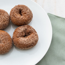 Apple Cider Donuts On A Plate