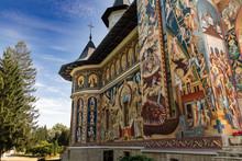 Coloured Monastery In Romania,...