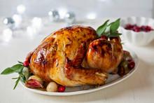 Christmas Dinner With Roast Tu...