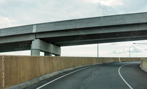 Highway Concrete Motorway Overpass Into The City Wallpaper Mural