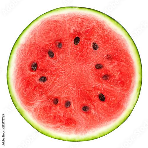 Fotografia watermelon slice isolated on white background, clipping path, full depth of fiel
