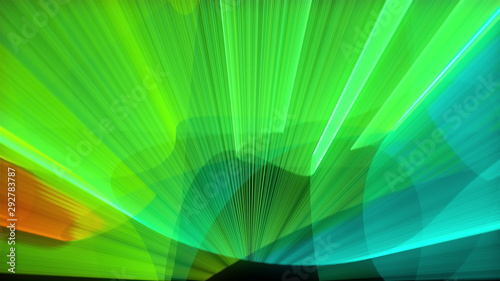Laser show abstraction with bright colors, 3d render computer generated background - 292783787