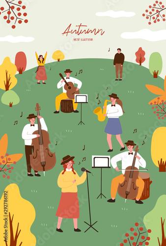 Spoed Fotobehang Olijf 가을축제. Autumn festival.