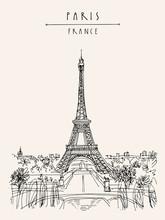 Paris, France, Europe. Eiffel ...