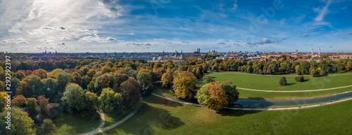 Obraz na plátně  Awesome Autumn colors at the Englischer Garten.