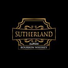 Sutherland Whiskey Label Golden Premium Design