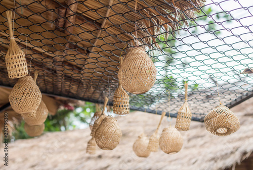 bamboo basketwork product for sale Canvas Print