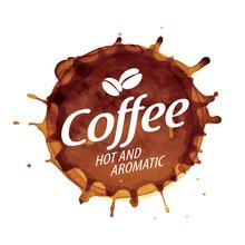Coffee Splatter. Vector Illustration On White Background