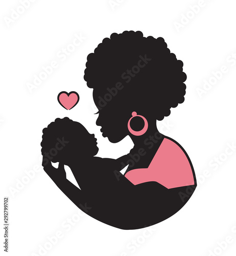 beautiful, mother, ethnic, africa, girl, silhouette, mom, female, kid, black, culture, african, baby, beauty, american, afro, decorative, traditional, adult, women, child, pattern, isolated, cute, lif