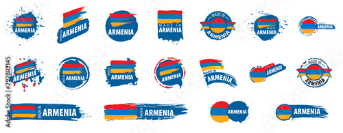 Photo Armenia flag, vector illustration on a white background