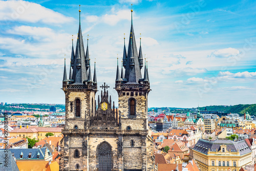 Obraz The Church of Mother of God before Tyn in Prague, Czech Republic. - fototapety do salonu