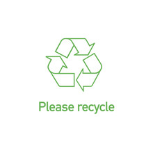 Green Linear Recycle Icon With...