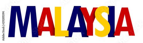 Fotografía MALAYSIA colorful typography banner