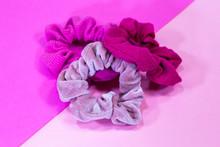 Three Pink Scrunchies Multi Co...