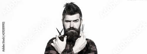 Obraz na plátně Bearded man, bearded male