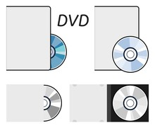 Vector Dvd Or Cd Disc Icons