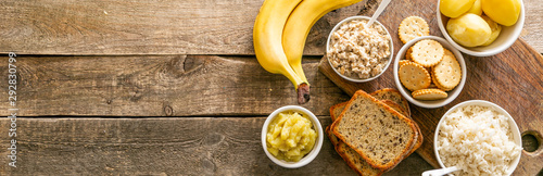 Selection of food to consume while diarrhea, wppd background Wallpaper Mural