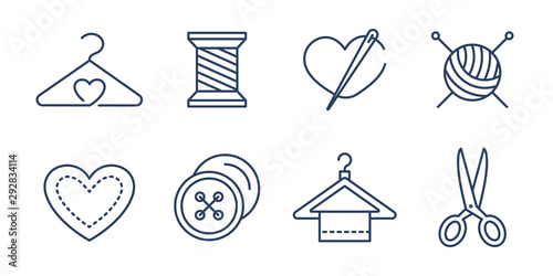 Fotomural  Vector set of logo design templates and icons  in simple linear style - handmade