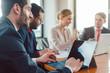 Leinwandbild Motiv Office business team working in a meeting