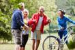 Senioren machen zusammen Fitness