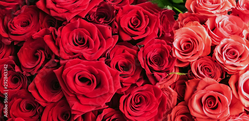 Bunch Of Red Roses background Valentine's Day #292843342