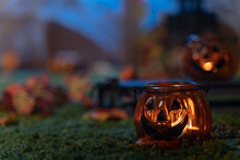 Halloween Background, Pumpkins