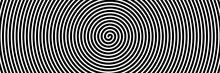 Black Spiral On White Banner 03