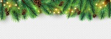 Christmas Border. Holiday Garl...