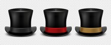 Realistic Top Hat. Magic Hat V...