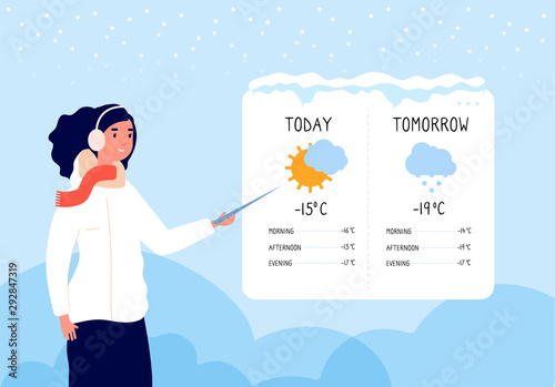 Fotomural Winter weather forecast