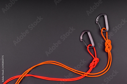 Photo Rope and knot on  background.