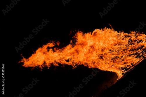 Foto auf Gartenposter Brennholz-textur Great fire flame background texture