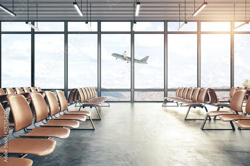 Obraz Big airport interior - fototapety do salonu