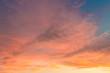Dusk sky on twilight in the evening,majestic sunset with dramatic sunlight on dark blue sky on summer season,idyllic peaceful nature background.