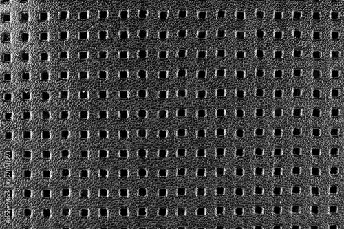 Car black leather interior Slika na platnu