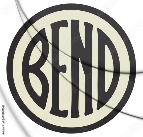 Valokuvatapetti 3D Seal of Bend (Oregon), USA. 3D Illustration.