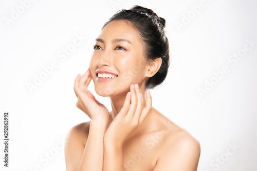 Fototapeta Beautiful Young Asian Woman with Clean Fresh Skin, obraz na płótnie