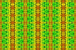 canvas print picture - Textured African fabric, multicolored pattern