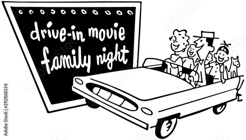 Fototapeta Drive-In Movie Family Night obraz