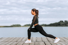 Fit Athletic Woman In Sportswe...