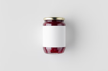 Pickled Beets Jar Mockup. Top ...