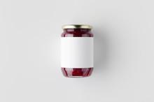 Pickled Beets Jar Mockup. Top ...