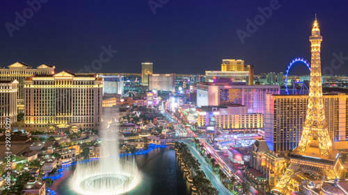 Las Vegas strip as seen at night Wallpaper Mural