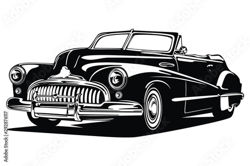 Classic vintage retro car design