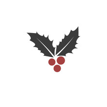 Christmas Leaf And Berry Icon