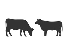 Cow Graphic Design Template Ve...