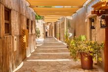 Old Dubai. Traditional Arabic Streets In Historical Al Fahidi District, Al Bastakiya. Dubai, United Arab Emirates.